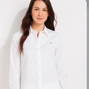 Vineyard vines Oxford shirt white size 6